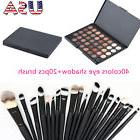40 Color Makeup Cosmetic Matte Eyeshadow Cream Palette + 20pcs Powder Brush set