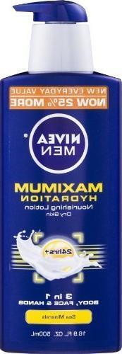Nivea For Men Max Hydrati Size 16.9z Nivea For Men Max