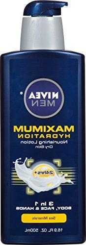 NIVEA Men Maximum Hydration 3 in 1 Nourishing Lotion 16.9