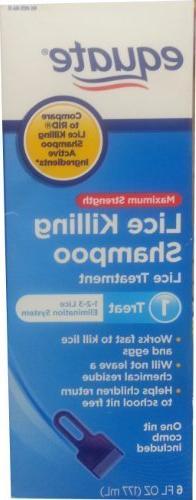 Equate Maximum Strength Lice Killing Shampoo 6oz Compare to