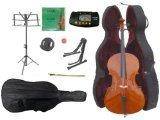 Merano MC150-3 1/4 Size Student Cello Hard Case, Bag and Bow