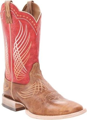 Ariat Men's Mecate Western Cowboy Boot, Wildhorse Tan/Red