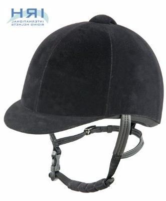 IRH  Velveteen Riding Helmet, Black, 7 1/2