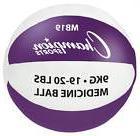 Medicine Ball in Purple and White