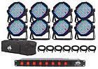 American DJ MEGA FLAT PAK PLUS 8x Mega Par Profile+DMX