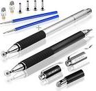 MEKO 3-in-1 Precision Series Disc Stylus Pen, 6-Inch  with 4 Pieces New