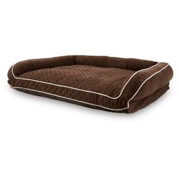 petco memory foam brown couch dog bed 2