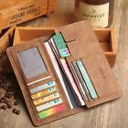 Men's Bifold Leather Breast Pocket Card Holder Purse Suit