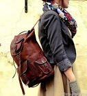 Men's Leather Backpack Vintage Messenger Shoulder Bags