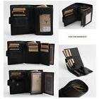 Black Zipper Secured Bifold Wallet Men's Genuine Leather