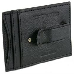 Mens Leather Money Clip Wallet Thin Slim Minimalist 4 Card