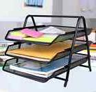 Greenco Mesh 3 Tier Document, Letter Tray, Desk Organizer,