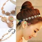 Womens Fashion Metal Chain Jewelry Hollow Rose Flower