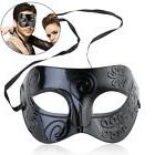 Men Women  Black Metal and Glitter Venetian Masquerade Ball
