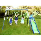 Metal Swing Set Outdoor Patio Kids Playground Slide Backyard