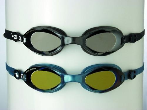 Water Gear METALLIC RAZOR ANTI-FOG Swim Goggles - Gold/Blue