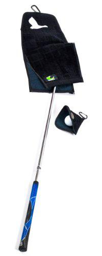 ProActive Sports MGT912-BLK Towel with Putting Mate in Black