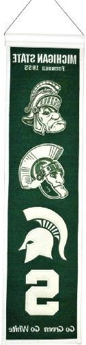 Michigan State Spartans Wool 8in. x 32in. Heritage Banner