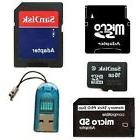 Sandisk 16GB Micro SD Memory Card + MiniSD, SD & Memory Stick PRO DUO ADAPTERS