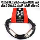 Hosa 10 ft Microphone Cable 3-Pin XLR Male to Female Metal