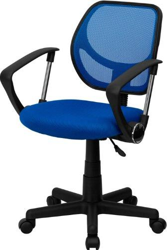 Mid-Back Mesh Task Chair with Arms and Chrome Base Apple