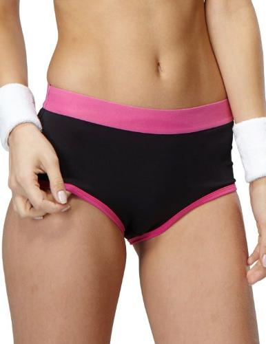 Yvette Women Mid-Rise Sports Panties #6038, Turquoise, Small