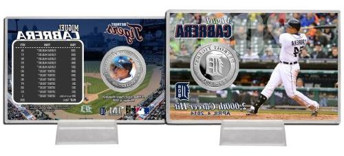 "Miguel Cabrera Detroit Tigers ""2000th Hit"" Silver Coin Card"