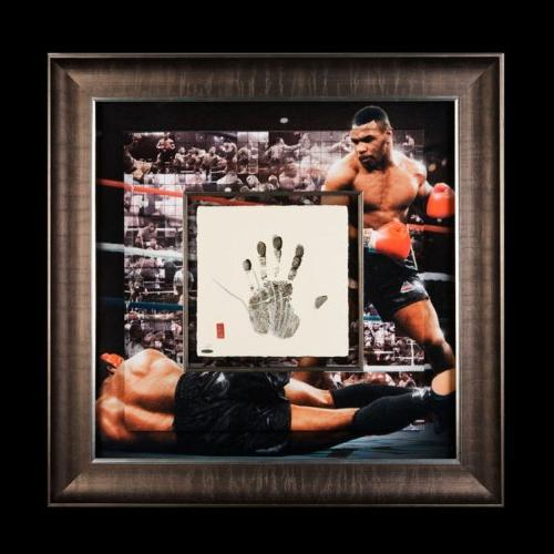 Mike Tyson Autographed 'Tegata' 36x36 Mosaic - Framed and
