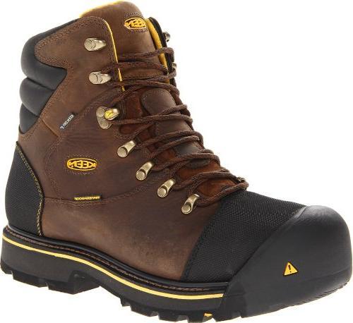 KEEN Utility Men's Milwaukee WP Wide Work Boot,Dark Earth,11