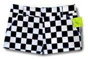 Loudmouth Golf Womens Mini Shorts: Pole Position- Size 4
