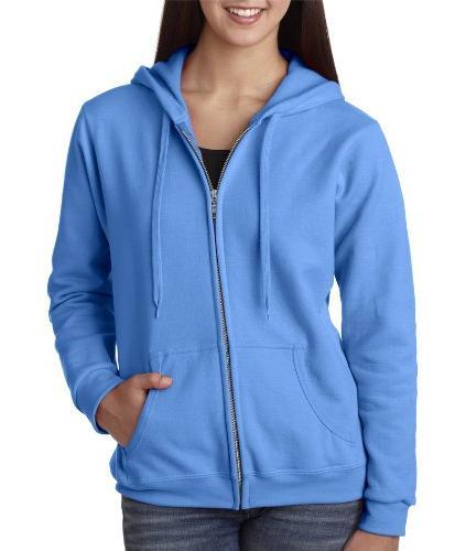 Missy Fit Heavy BlendFull-Zip Hooded Sweatshirt - Carolina
