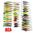 43pcs/lot Mixed 6 Models Minnow Lure Crank Bait Tackle