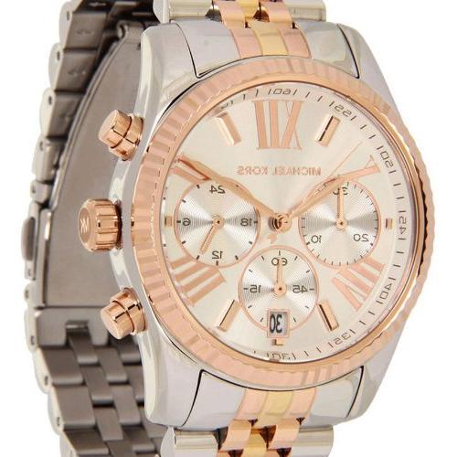Michael Kors Women's Lexington Triology Watch, Rose Gold/
