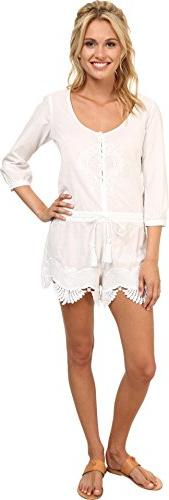 Rip Curl Women's Modern Love Romper White Jumpsuit MD