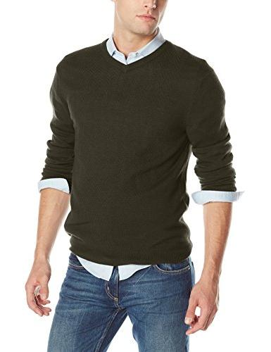 Haggar Men's Modified Cable Center Front Panel V-Neck