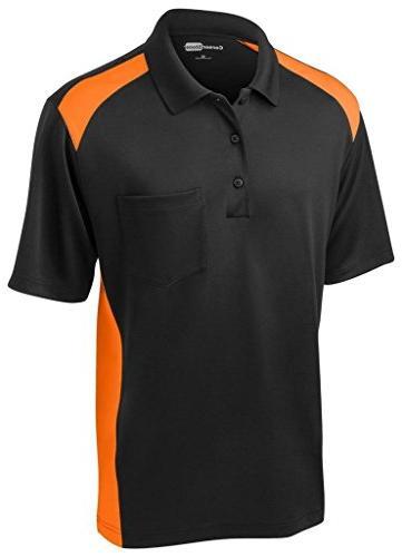 Cornerstone Tall Silk Touch Performance Polo Shirt, L, Black