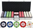 Monaco Texas Hold 'Em 13.5g 500 pc Clay Poker Chips w/ Case