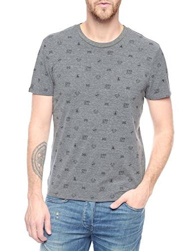 True Religion Men's Monogram T-Shirt Heather Grey XXXL