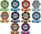 NEW 200 Piece 14 Gram Monte Carlo Clay Poker Chips Bulk Lot