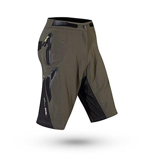 Santic Men's Padded Loose Fit Black Gray Size L