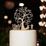 Mr and Mrs Cake Topper Wood Wedding Cake Topper Funny Bride