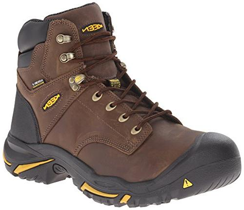 KEEN Utility Men's Mt. Vernon Mid Work Boot, Cascade Brown,