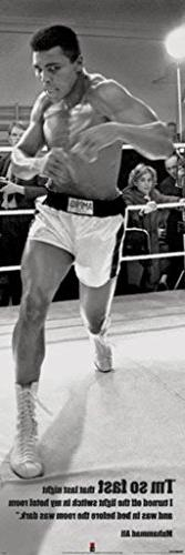 """Muhammad Ali """"I'm So Fast"""", Sports Door Poster Print, 21 by"""