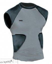 Bike multi sport compression shirt with integrated pads