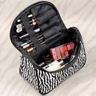 Women Multifunction Travel Cosmetic Bag Zebra Striped Makeup