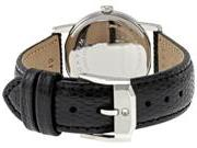 Movado Museum Black Dial Black Leather Strap Ladies Watch