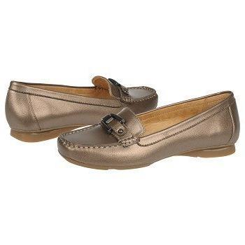 NATURALIZER SOPHIE NICKEL ALLOY METALLIC LEATHER LOAFER