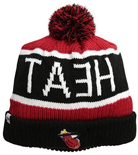 NBA Miami Heat '47 Brand Calgary Cuff Knit Hat with Pom, One