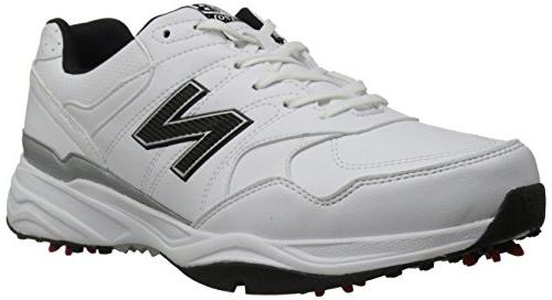 New Balance Men's NBG1701 Golf Shoe, White/Black, 10.5 4E US