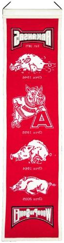 NCAA Arkansas Razorbacks Heritage Banner